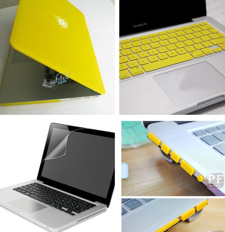 Combo para Mac Pro 13 Amarillo Fluorescente (Carcasa + Teclado + ...
